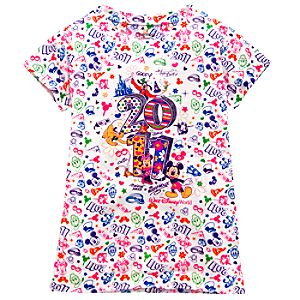 Glitter Walt Disney World Resort 2011 Mickey Mouse and Friends Tee for Girls