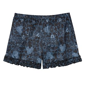 Silk Ruffled Mickey Mouse Shorts