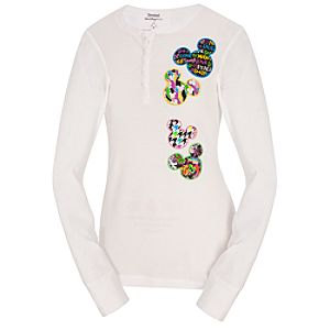 Long Sleeve Thermal Mickey Mouse Pajama Top