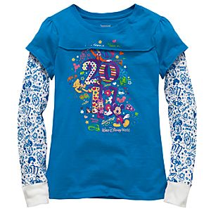Double-Up Long Sleeve 2011 Walt Disney World Tee for Girls