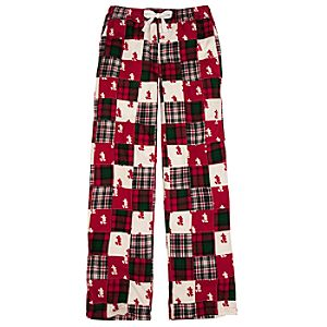 Holiday Patchwork Mickey Mouse Lounge Pants