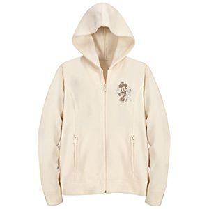 Hooded Polar Fleece Minnie Mouse Jacket -- White