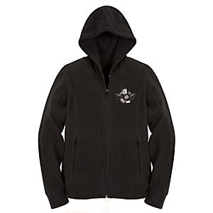 Hooded Polar Fleece Mickey Mouse Jacket -- Black