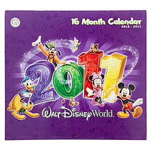 2011 Walt Disney World Resort Calendar -- 16 months