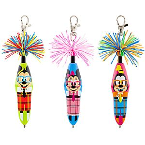 Kooky™ Mickey Mouse and Friends Nerd Pen Set -- 3-Pack