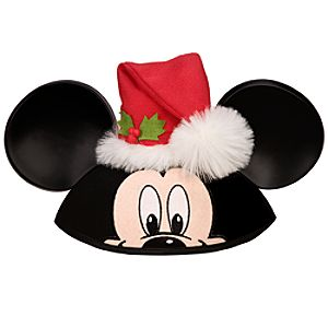 Personalized Santa Mickey Mouse Ear Hat