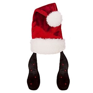Light-Up Adult Goofy Ears Santa Hat