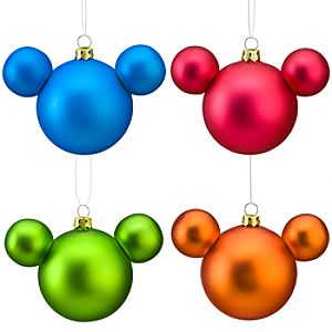 Mickey Mouse Icon Ornaments -- 4-Pc.