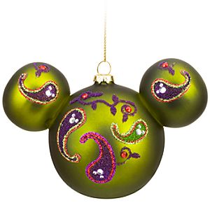 Bohemian Beaded Glass Mickey Mouse Ornament