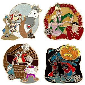 Walts Classic Collection The Adventures of Ichabod and Mr. Toad Pin Set -- 4-Pc.