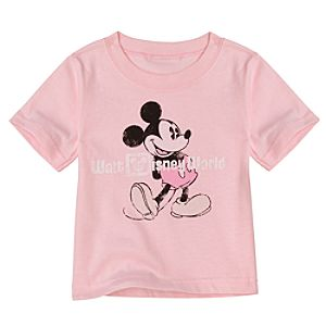 Pink Walt Disney World Resort Mickey Mouse Tee for Infants