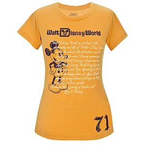 Walt Disney World 1971 Mickey Mouse Tee for Women