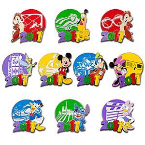 2011 Disney Parks Mystery Pin Set -- 2-Pc.