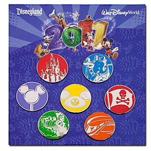 2011 Disney Parks Pin Set -- 7-Pc.