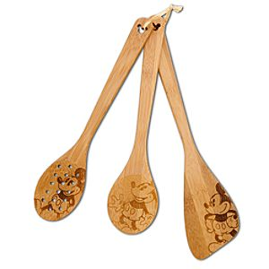 Bamboo Mickey Mouse Utensil Set