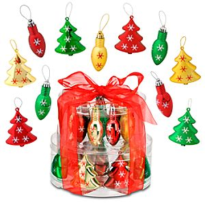 Shatterproof Bulbs and Trees Mickey Mouse Ornaments -- 18-Pc.