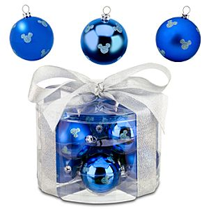 Shatterproof Blue Mickey Mouse Ornaments -- 12-Pc.