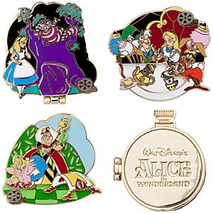 Classic Collection Alice in Wonderland Pin Set -- 4-Pc.