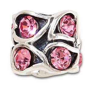 Crystal Paisley Chamilia Charm -- Pink