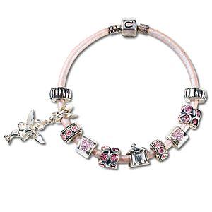 Pink Leather Chamilia Bracelet -- 7 1/2 L