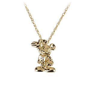 14-Kt. Gold and Diamond Mickey Mouse Necklace - Disney Dream Collection