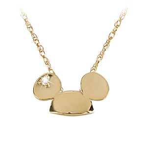 14-Kt. Gold and Diamond Mickey Mouse Ears Hat Necklace from the Disney Dream Collection