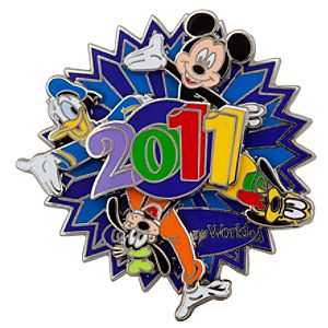 Spinner 2011 Walt Disney World Resort Mickey Mouse and Friends Pin