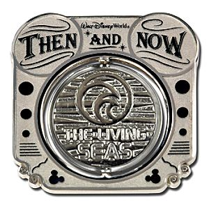 Then and Now Attractions The Living Seas Pin