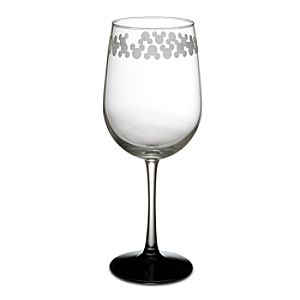Etched Mickey Mouse Wine Glass -- 9