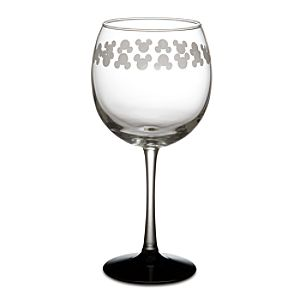 Etched Mickey Mouse Wine Glass --  8 1/2