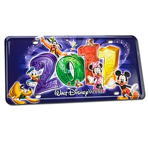 2011 Walt Disney World Resort License Plate