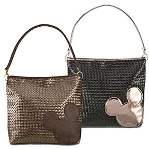 Large Woven Mickey Mouse Hobo Bag