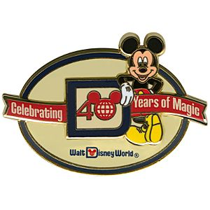 40th Anniversary Walt Disney World Logo Mickey Mouse Pin