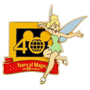40th Anniversary Walt Disney World Tinker Bell Pin