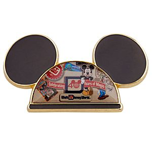40th Anniversary Walt Disney World Mickey Mouse Ear Hat Pin