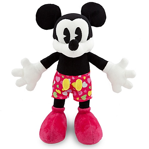 Valentine's Day Mickey Mouse Plush Toy -- 7''