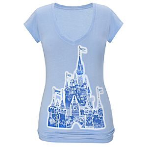 40th Anniversary Magic Kingdom Castle Tee For Women