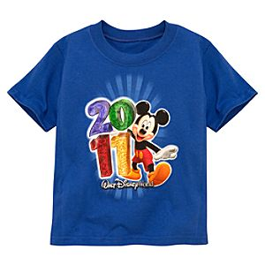 2011 Walt Disney World Resort Tee for Toddler Boys -- Blue