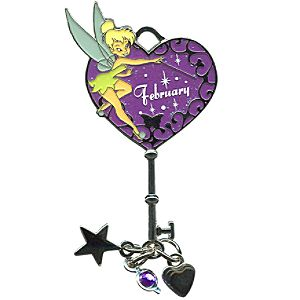 Limited Edition Tinker Bell Birthstone Key Pin -- February