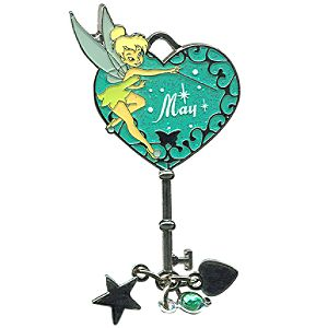 Limited Edition Tinker Bell Birthstone Key Pin -- May