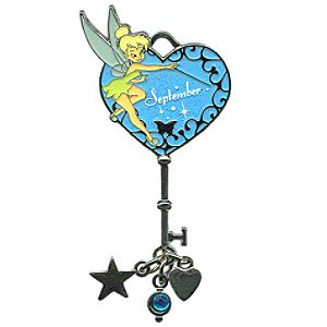 Limited Edition Tinker Bell Birthstone Key Pin -- September