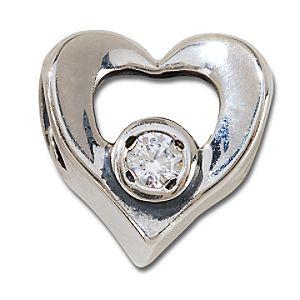 CZ Sterling Silver Heart Chamilia Charm