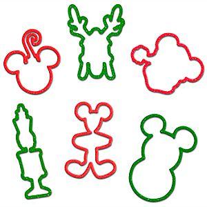 Glitter Holiday Disney Bands Elastic Bracelets -- 12-Pc.