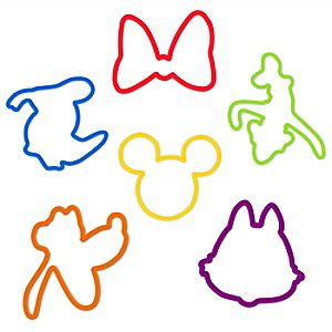 Mickey and Friends Disney Bands Elastic Bracelets Series 1 -- 12-Pc.