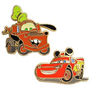 Mater and Lightning McQueen Cars Pins -- 2-Pc.