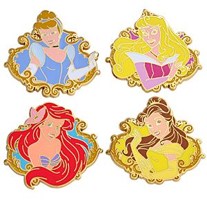 Booster Pack Disney Princess Pin Set -- 4-Pc.