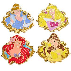 Booster Pack Disney Princess Pin Set -- 4-Pc.