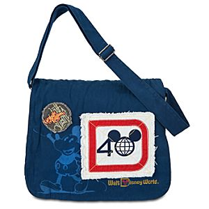 Magic Kingdom 40th Anniversary Denim Messenger Bag