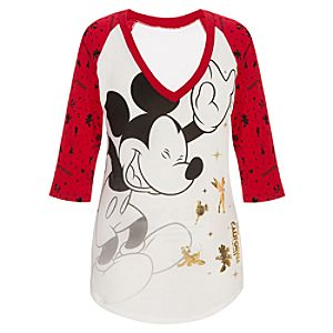 Disney California Adventure Raglan Mickey Mouse Tee for Women
