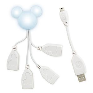 Light-Up Mickey Mouse High-Speed 4-Port USB Hub